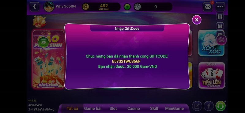 88vin giftcode